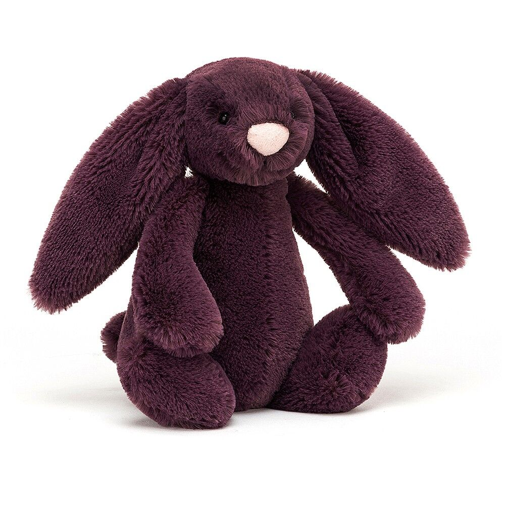 Image of JellyCat Bashful kanin, Plum mellem 31 cm (0f17440e-6ea8-47c4-81ee-a1a3a20e6fc4)