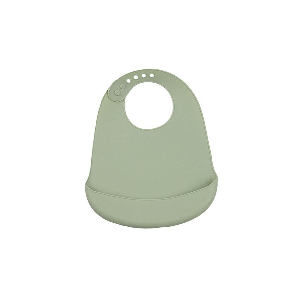 Tiny Tot Hagesmæk grøn - silikone
