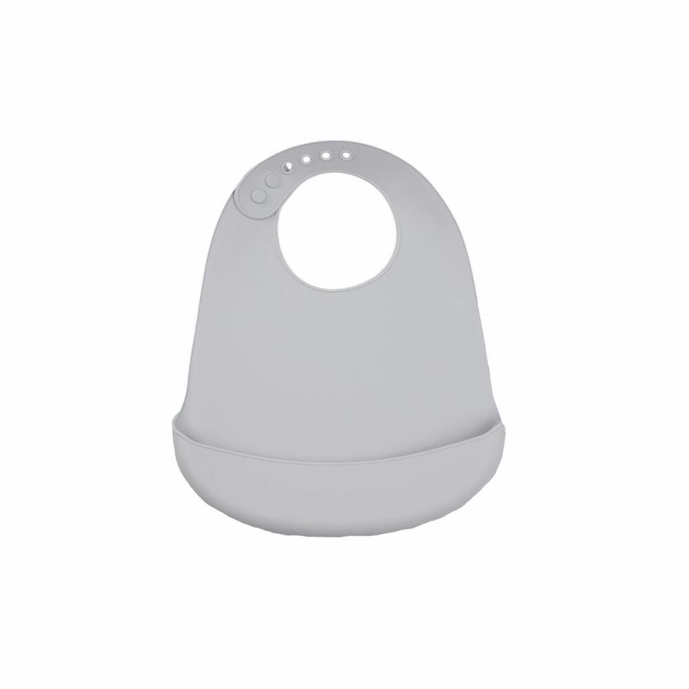 Tiny Tot Hagesmæk lys grå - silikone