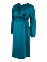 Shelby L/S woven uk dress - DEEP TEAL