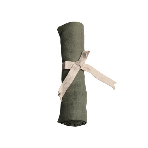 Muslin Stofble - Olive Green