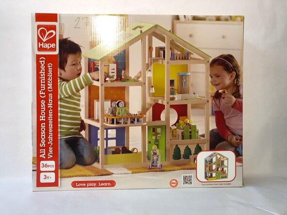 Hape Dukkehus med møbler
