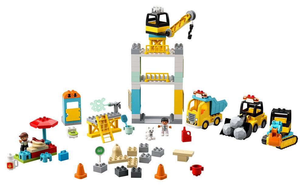 Image of LEGO Byggeplads med tårnkran (bf56409f-a473-4ed1-8c77-a4f636083f14)