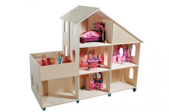 Mobilt dukkehus - dobbelt