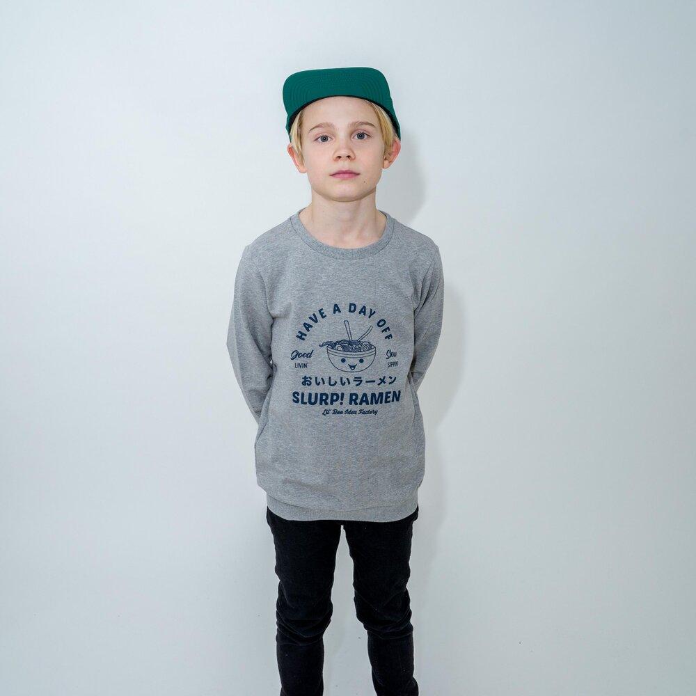 Image of Lil' Boo Ramen sweatshirt - LYSEGRÅ (8fe0332f-3da3-4494-afa7-29f69f76fd93)