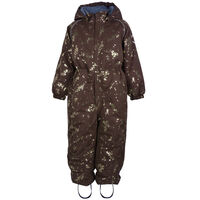 Polyester junior suit - PUCE BROWN