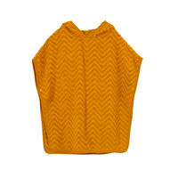 Bade poncho - zigzag, golden mustard