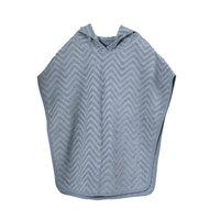 Bade poncho - zigzag, powder blue