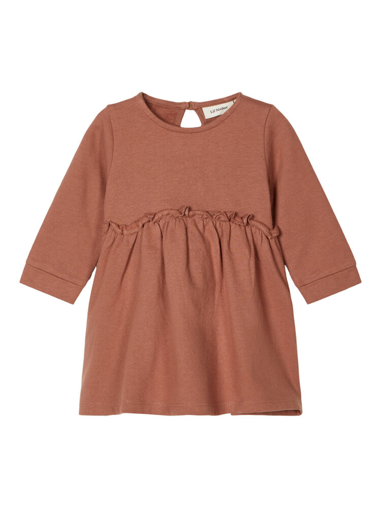 Image of Lil' Atelier Ebba LS sweat kjole - COGNAC (fc45707e-3ece-478b-a91e-e0b0dc6d00f3)
