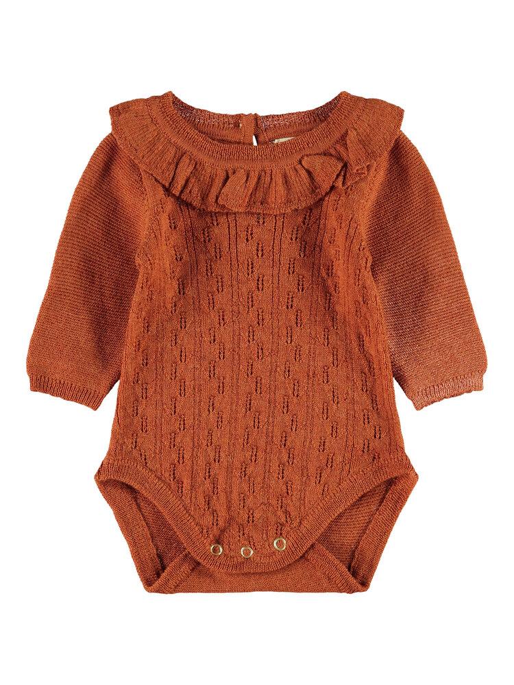 Image of Lil' Atelier Esma LS knit body - GINGERBREA (78ab5287-630a-4366-afc3-a72765d5d09e)
