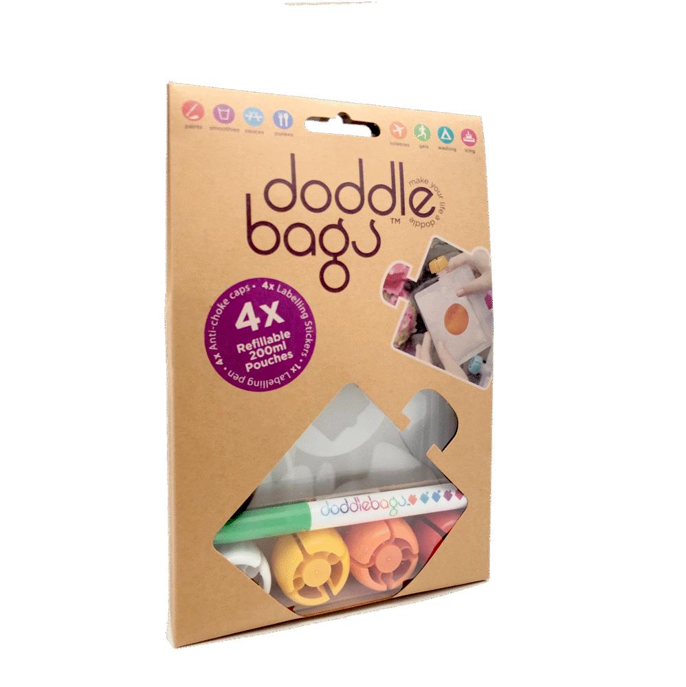 Image of Doddle Bags Doddlebags 4 stk 200 ml + Pen (034764cc-3aa8-4571-8dd0-ac2794e07811)
