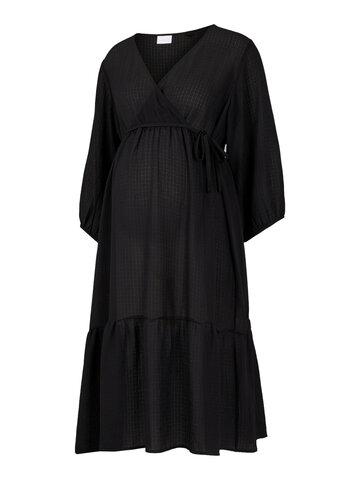 Ariana 3/4 woven uk dress - BLACK
