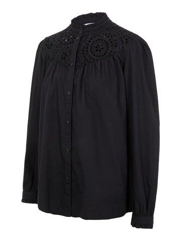 Grazie lia l/s woven top - BLACK