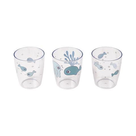 Yummy mini glas 3 stk blå