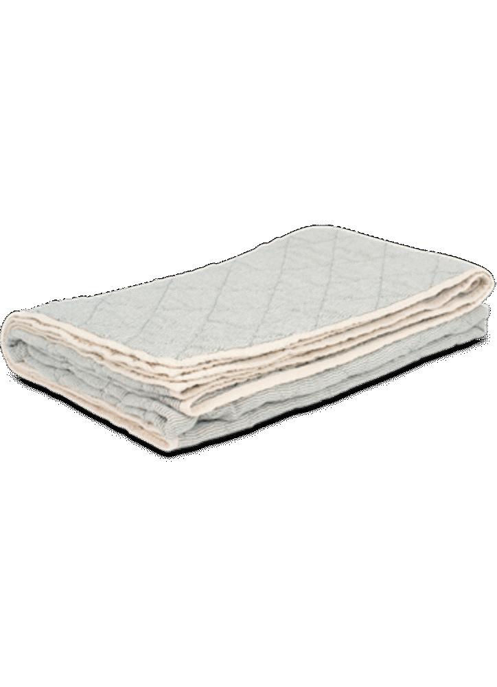 Image of Studio Feder Quiltet sengetæppe - creme stripe (2c9d88c9-7d2c-4b0f-9486-5dfb78c8cc6f)