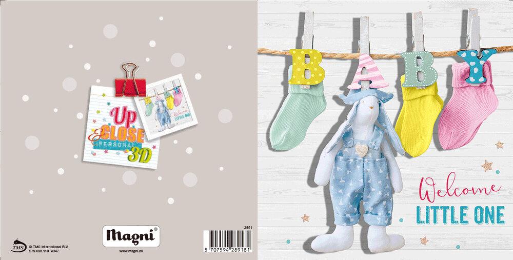 Image of Magni 3D Kort - Welcome Little One (5c41d6cc-4d3c-420e-81d0-fab933082036)