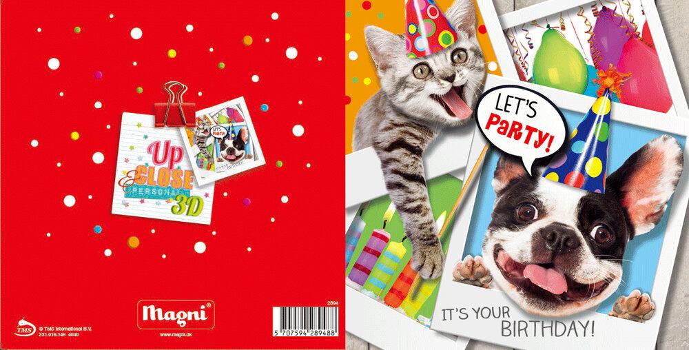 Image of Magni 3D Kort - Let's Party (9324f716-08ec-47e0-8802-5cffcaeb3bd1)