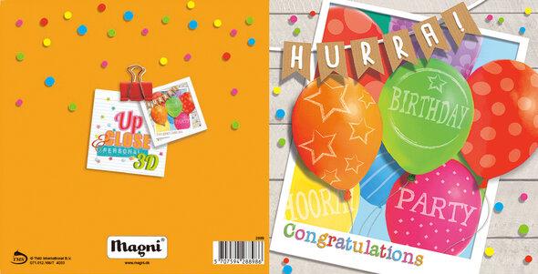 3D Kort - Fødselsdagsfest Ballon
