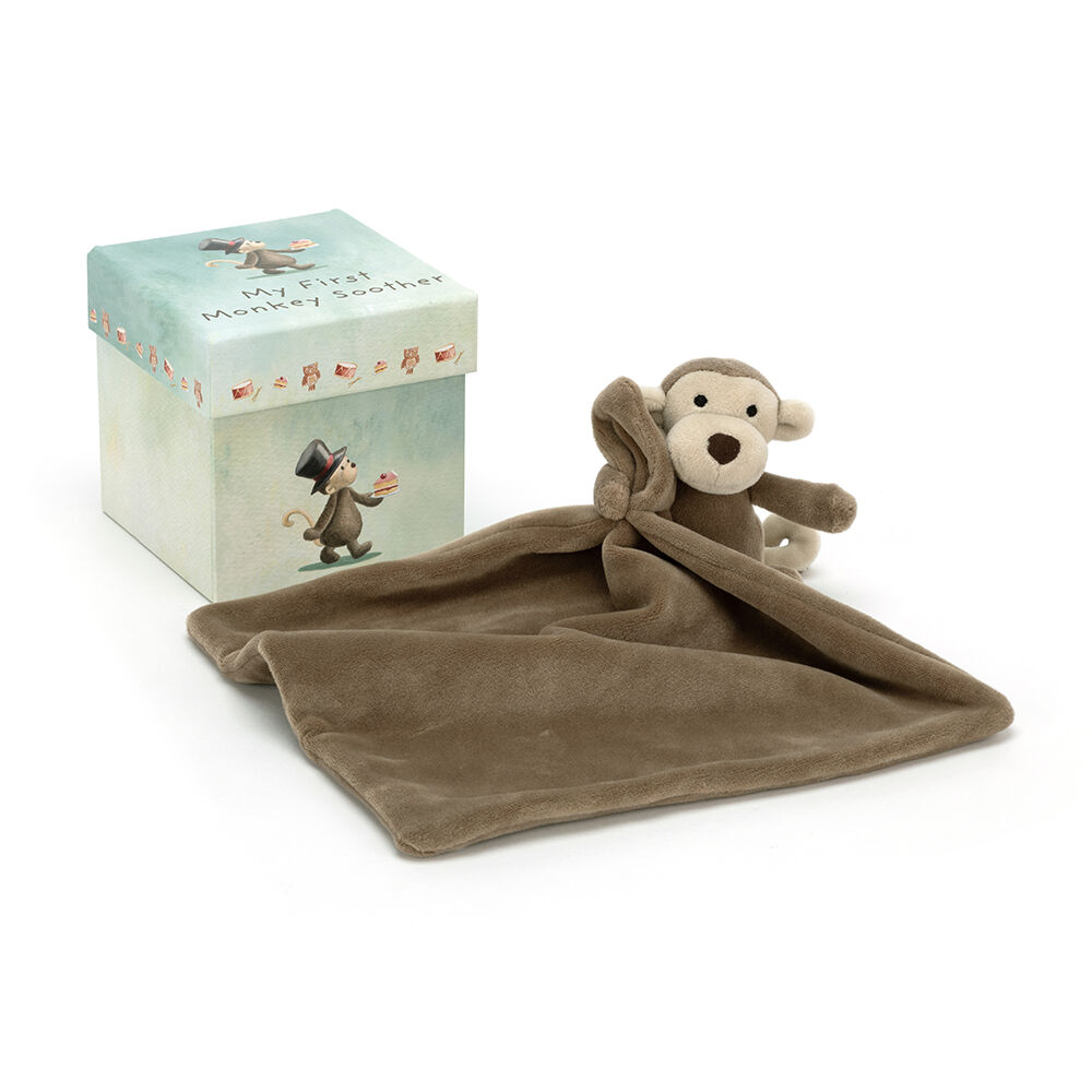 JellyCat Min første abe, nusseklud i æske