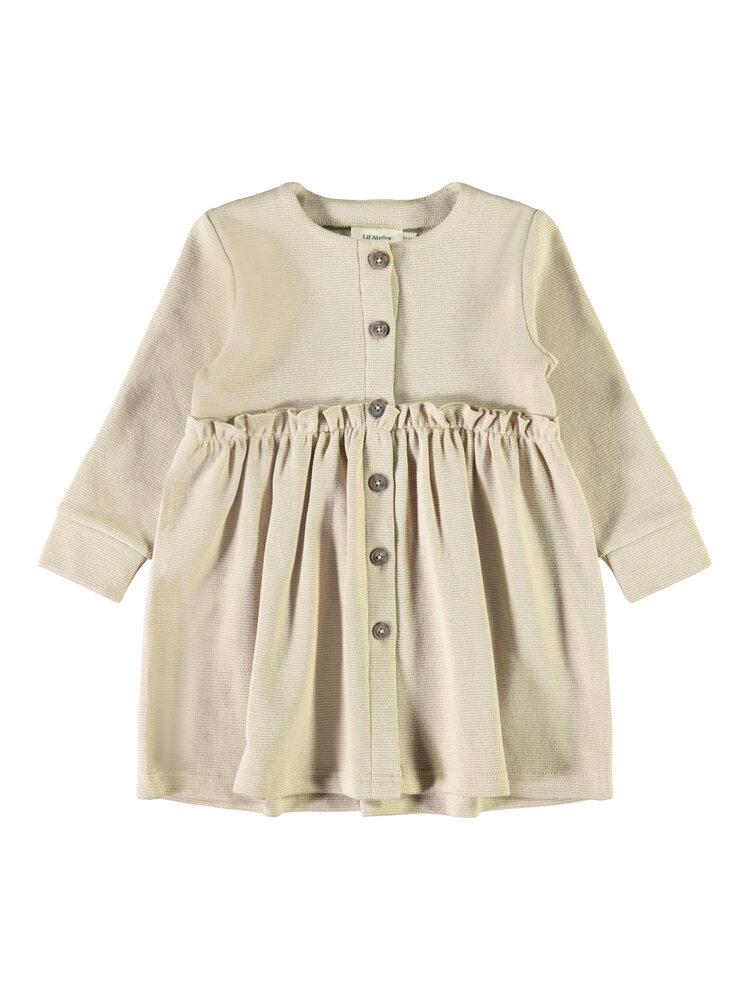 Image of Lil' Atelier Eisa LS sweat dress - HUMUS (285009c0-7e31-4679-bb6a-c8adc5a1b6be)