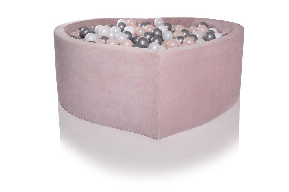 Image of Kidkii Boldbassin Hjerte 115X40 - Baby Pink (598218fc-bdc4-49a1-8706-ba17acb234e7)