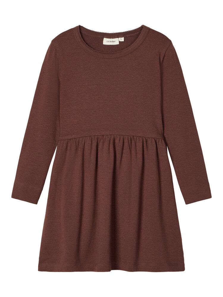 Image of Lil' Atelier Emke LS kjole - D.MAHOGANY (0527038f-78e1-4721-8150-e024d5345ab5)