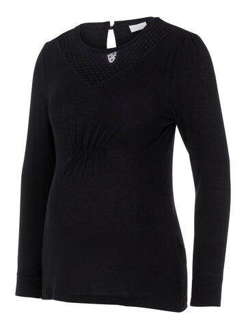 Anxo L/S jersey top - BLACK