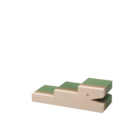 Petit krokodille, grøn