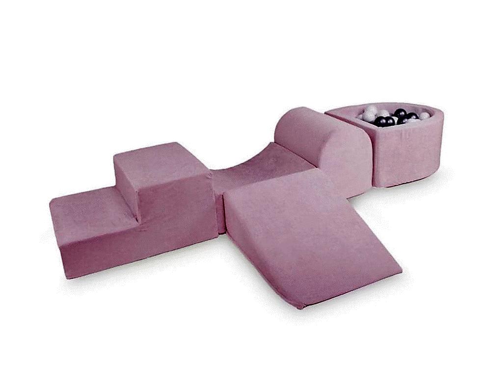 Kidkii Skum legesæt med boldbassin Baby Pink