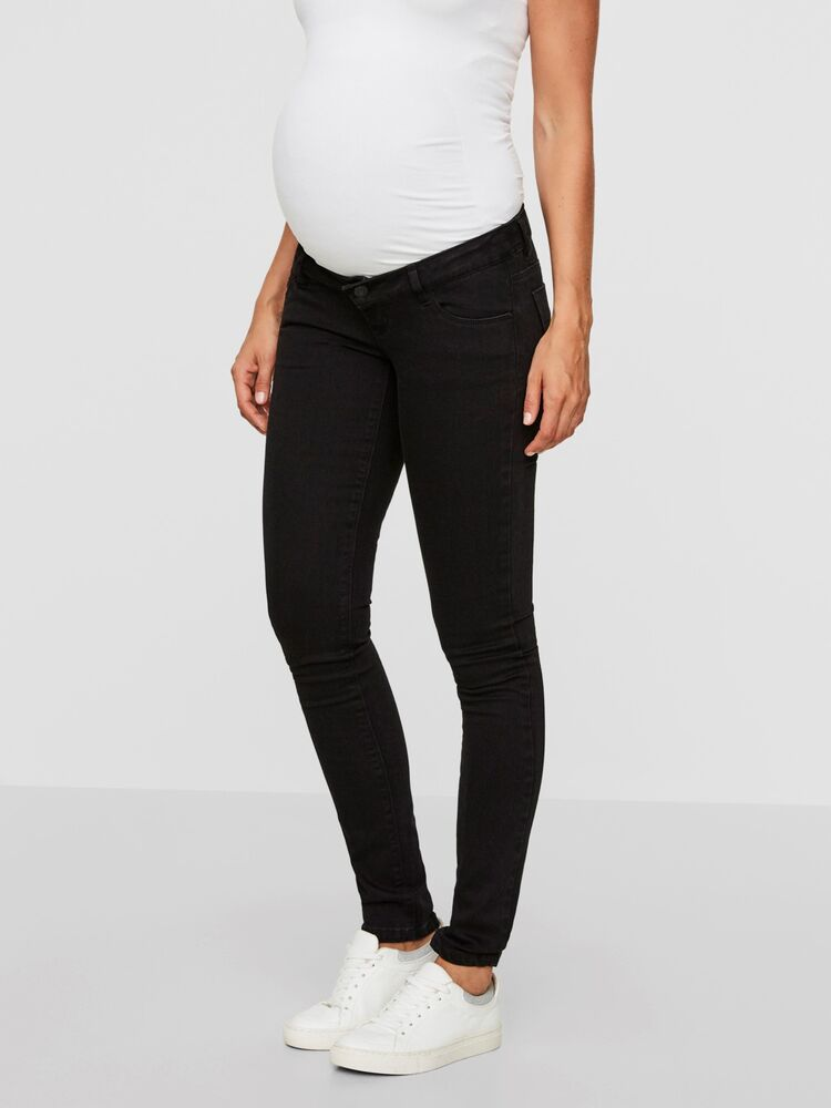 Image of MamaLicious Mllola Slim Black Jeans - Black (592c36d6-5f47-4ada-b426-b3e1f9918709)