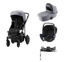Britax-Römer Smile III Duovogn - frost grey/black inkl. Babysafe2 autostol og flex base