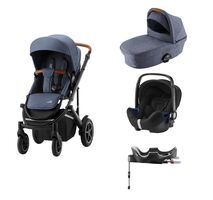 Britax-Römer Smile III Duovogn - indigo blue inkl. Babysafe2 autostol og flex base