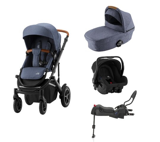 Britax-Römer Smile III Duovogn - indigo blue inkl. Primo babyautostol og base