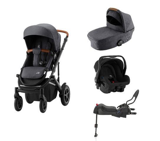 Britax-Römer Smile III Duovogn - midnight grey inkl. Primo babyautostol og base