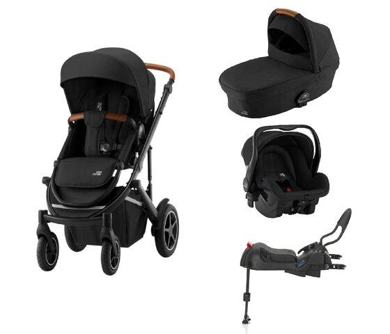 Britax-Römer Smile III duovogn - space black/brown inkl. Primo babyautostol og base
