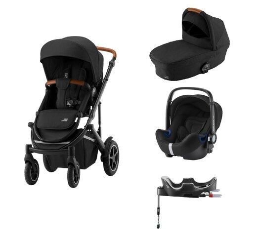 Britax-Römer Smile III Duovogn - space black/brown inkl. Babysafe2 autostol og flex base