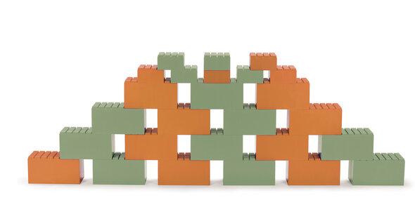 Byggesten orange/grøn