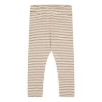 Simpel leggings tynde striber - BEIGE/SIENNE