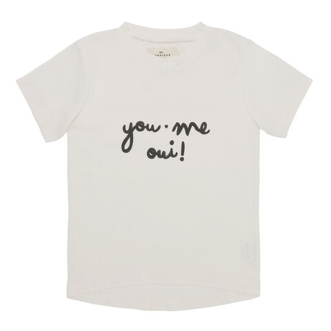 "T-shirt dame  ""you, me, oui"" - EGGSHELL"