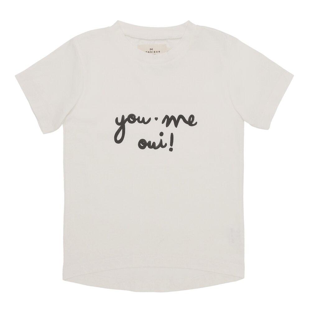 "Image of Monsieur Mini T-shirt børn ""you, me, oui"" - EGGSHELL (7b7e8858-6966-4915-9a96-59ad4e5de4ec)"