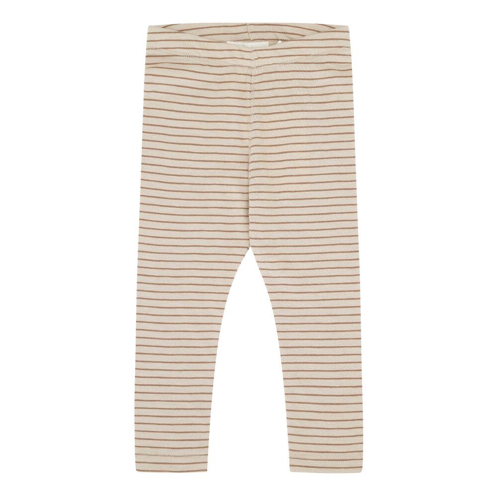 Image of Monsieur Mini Simpel leggings tynde striber - BEIGE/SIENNE (958b3bfa-fa5b-4f89-8f5d-d59e1fd250e3)