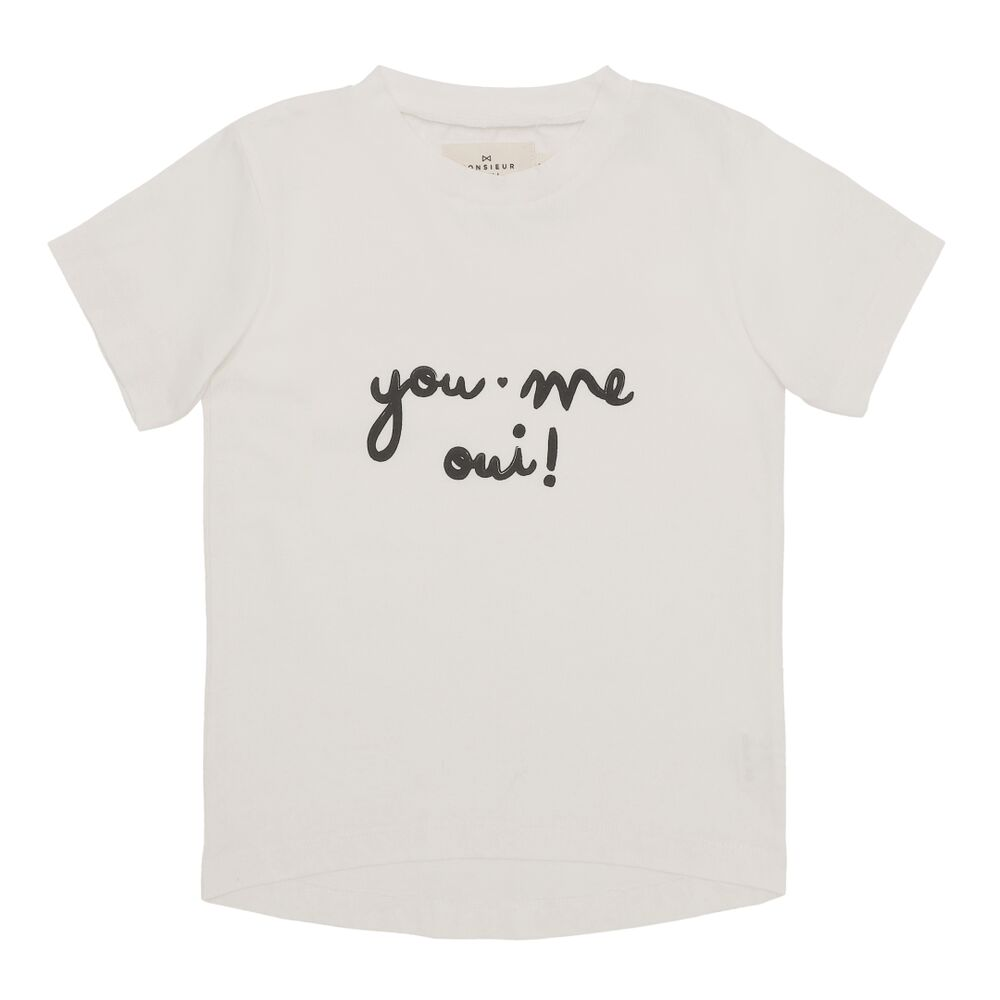 "Image of Monsieur Mini T-shirt dame ""you, me, oui"" - EGGSHELL (4b714423-0b07-4005-9a8a-da95bf86aea1)"