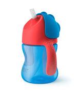 Sugerørskop 200 ml. blå/rød