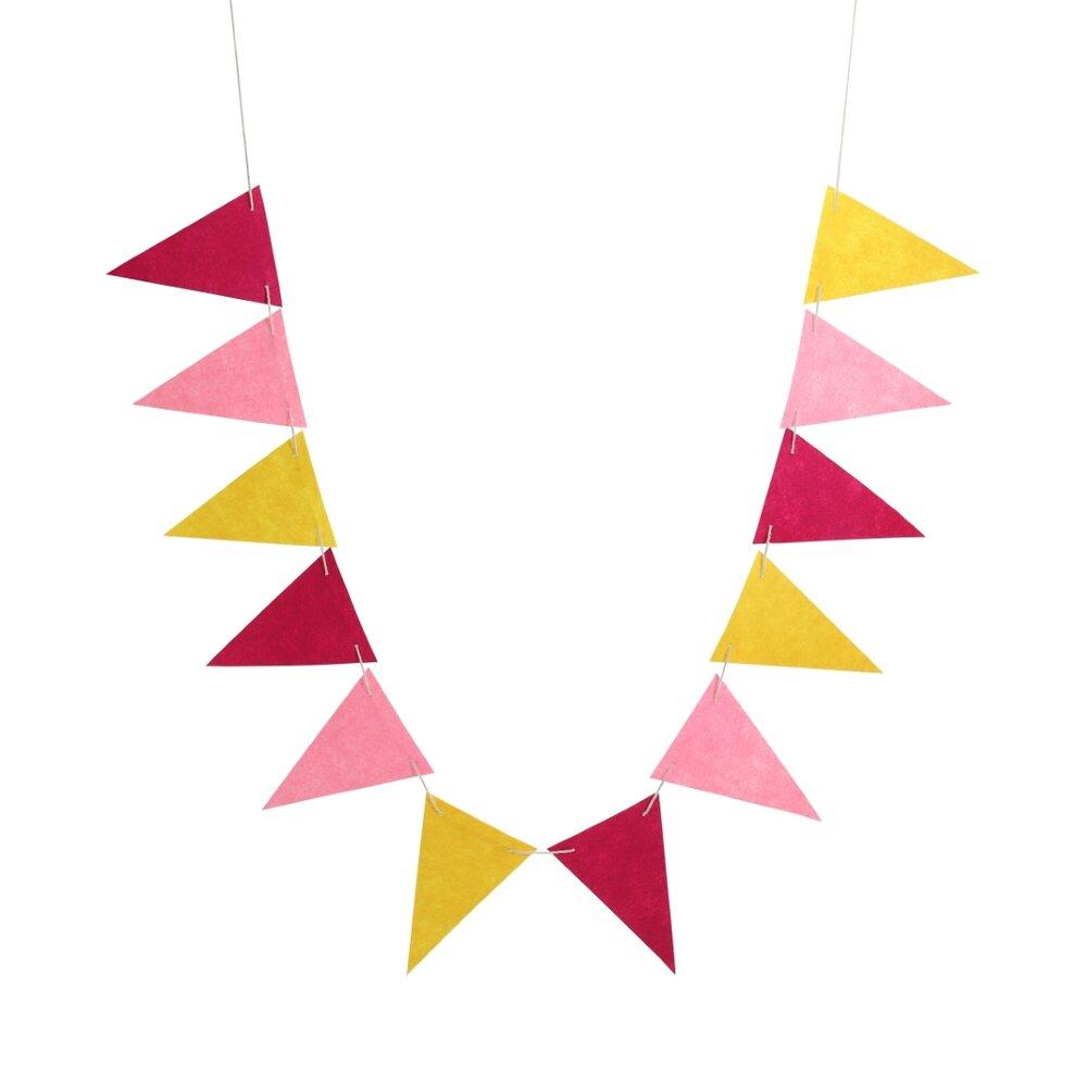Image of Lutter Lagkage Filtflag 12 stk - Pink/Gul (5313afd2-23a0-43ca-bd98-5ea7c79bff8e)