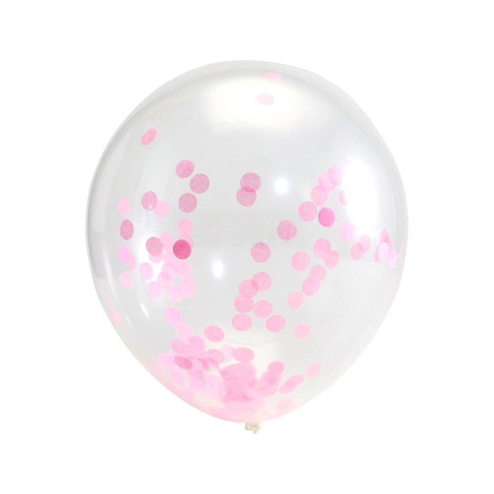 Image of Lutter Lagkage Konfetti Balloner 6 stk - Pink (54795740-8a68-47c0-8615-3fd438c92bbd)