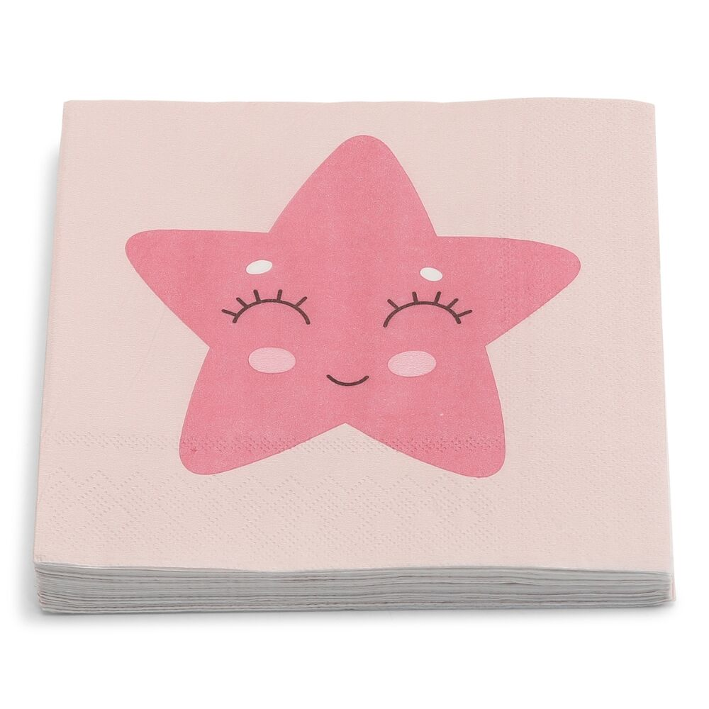 Image of Lutter Lagkage Servietter 20 stk - Pink (6b925d25-473b-4072-a086-65979d6429ab)