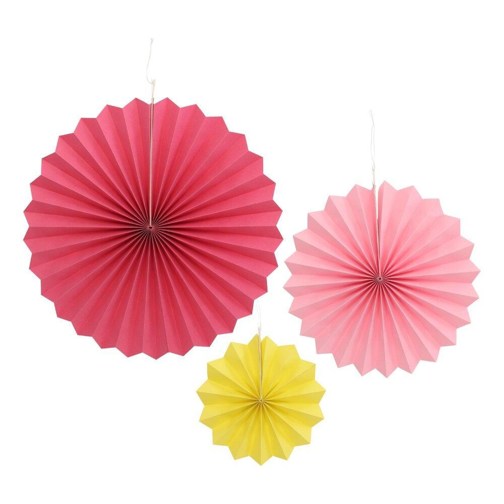 Image of Lutter Lagkage Papirvifter 6 stk - Pink/Gul (7d54b815-35e4-4b6a-b6a0-3b73bd80a05a)
