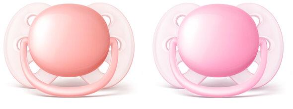 Sut, Ultra Soft  0-6 mdr. 2-Pak - pink/rød