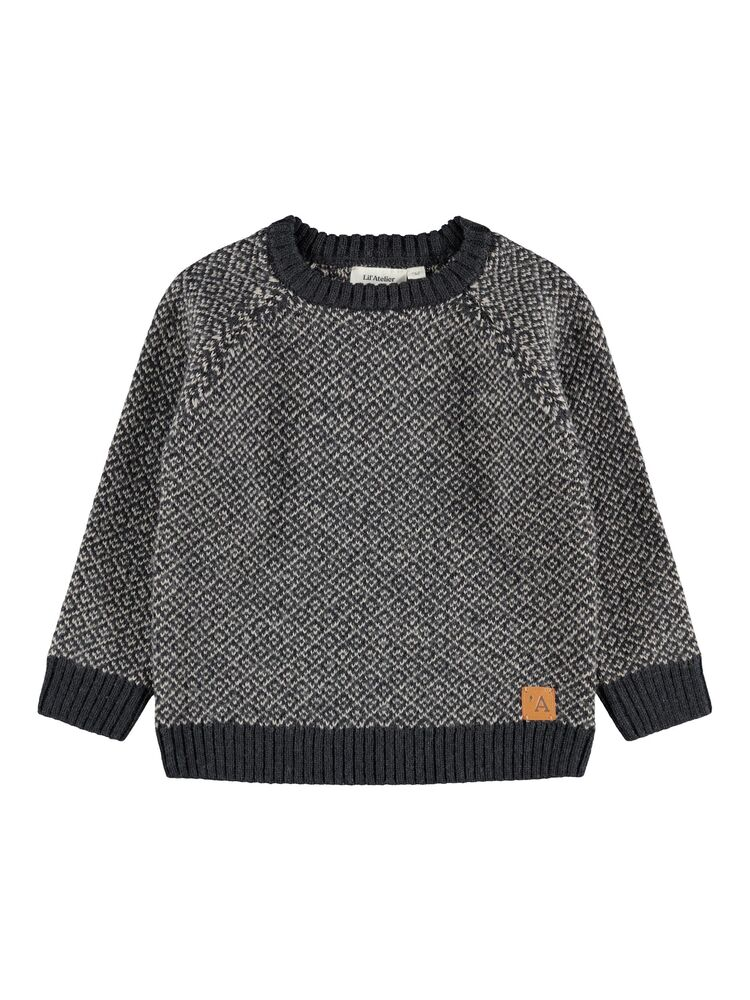 Image of Lil' Atelier Eroger LS knit - BLUEGRAPHI (7bf50c9f-9bd3-49b3-9488-091a07961197)