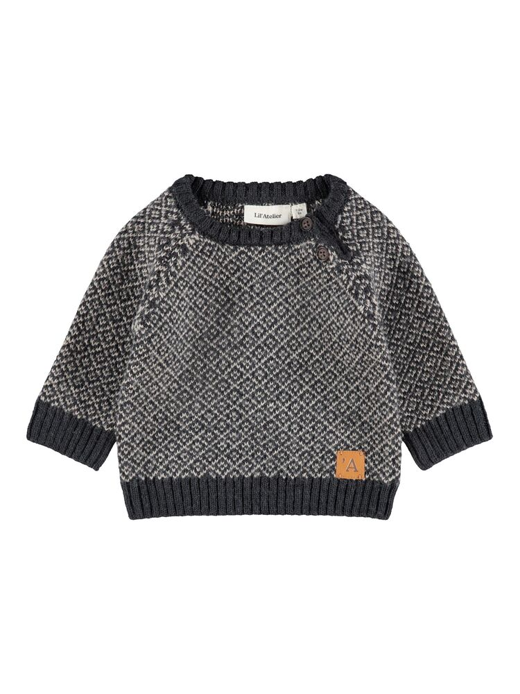 Image of Lil' Atelier Eroger LS knit - BLUEGRAPHI (a15c8f79-e322-4b72-a4e1-2d5223f2586f)